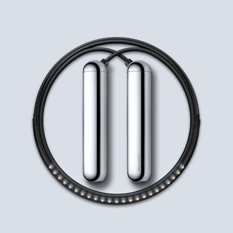 Tangram Smart Fitness Rope | 23 LEDs | Chargable | Calories Burner | Chrome Small Thumbnail 2
