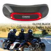 Cosmo Moto Motorcycle Smart Helmet Brake Light|Crash Detection System & Emergency Alert|Gloss Black