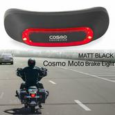 Cosmo Moto Motorcycle Smart Helmet Brake Light|Crash Detection System & Emergency Alert|Matt Black