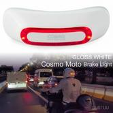 Cosmo Moto Motorcycle Smart Helmet Brake Light|Crash Detection System & Emergency Alert|Gloss White