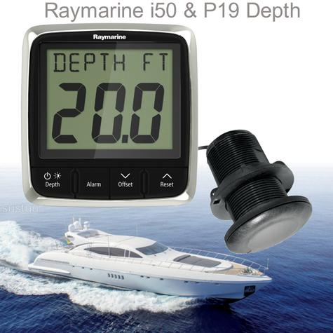 Raymarine E70148|i50 Depth & P19 Thru-Hull Instrument Pack|Multiple Data Support|For Boat & Yachts Thumbnail 1