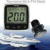 Raymarine E70148|i50 Depth & P19 Thru-Hull Instrument Pack|Multiple Data Support|For Boat & Yachts