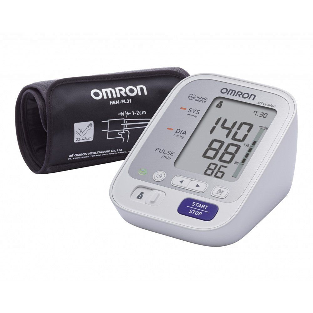 Omron M3 IT Blood Pressure Monitor|USB Cable|Easy Cuff 22-42 cm|(HEM-7131U-E)|