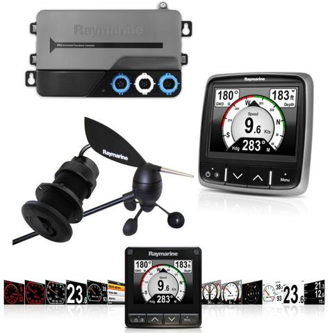Raymarine i70s Instrument System Pack i70s Wind&DST Txds AIS Repeater For Marine Thumbnail 1