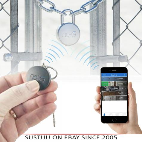 Noke Smart Padlock & Key Fobs|Water-Resist|Bluethooth|Unlocks with Click|U-Lock Thumbnail 1