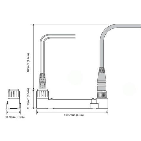 Raymarine E70227|ECI-100 Universal Engine&Control Interface|For Data Radar/Sonar/Navigation  Thumbnail 2