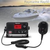 Raymarine E70243|Ray50 Compact Marine VHF Radio|25W|Class D|DSC|LCD|Sleek-Black