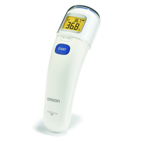 Omron MC720 3 in 1 Contactless Forehead Baby Digital Backlight Thermometer - NEW Thumbnail 2