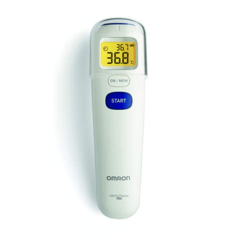 Omron MC720 3 in 1 Contactless Forehead Baby Digital Backlight Thermometer - NEW Thumbnail 3