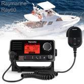 Raymarine E70245|Ray60 Marine VHF Radio|LCD Dual Station & Intercom|NMEA2000/0183