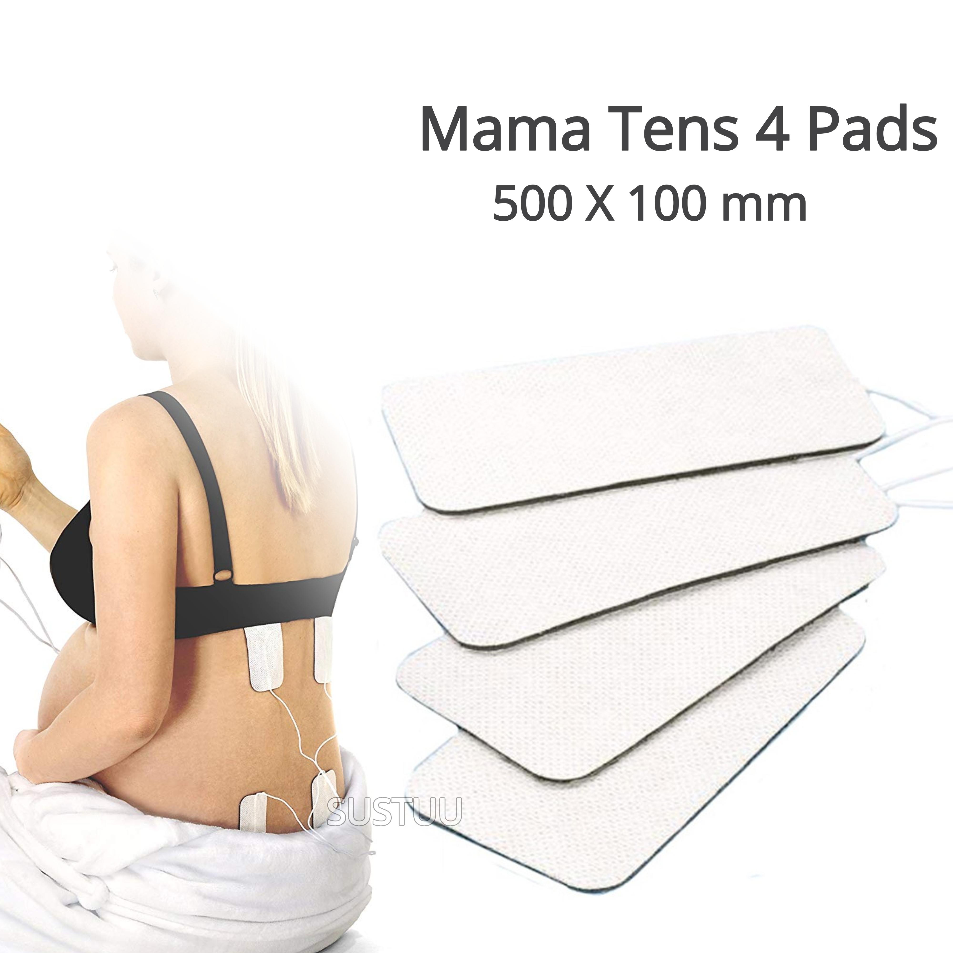 TensCare Mama Tens Pads x 4 | Maternity Unit | Labour Pain Relief | Reusable | 50x100mm