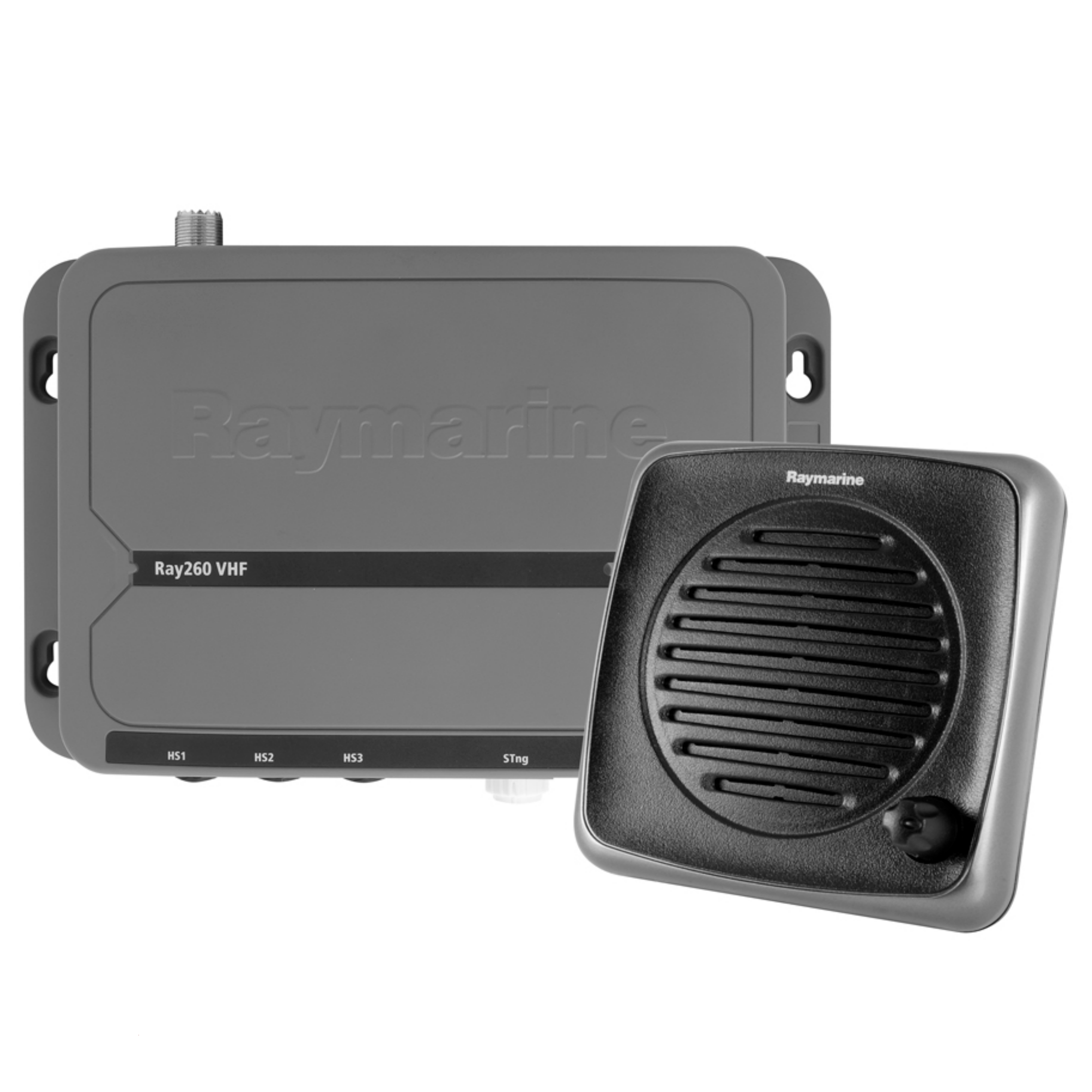 Raymarine E70253|RAY 260 VHF Radio & Active Speaker|EU Version|Class D DSC|For Marine