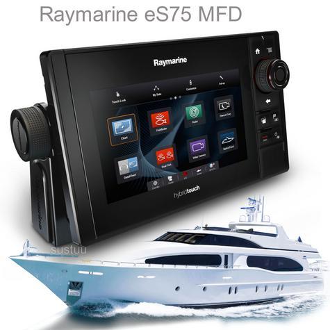 "Raymarine E70263|eS75 Hybrid Touch MFD-7""|CHIRP|Sonar|C-MAP|Wi-Fi/BT|AIS|IPX6/IPX7 Thumbnail 1"