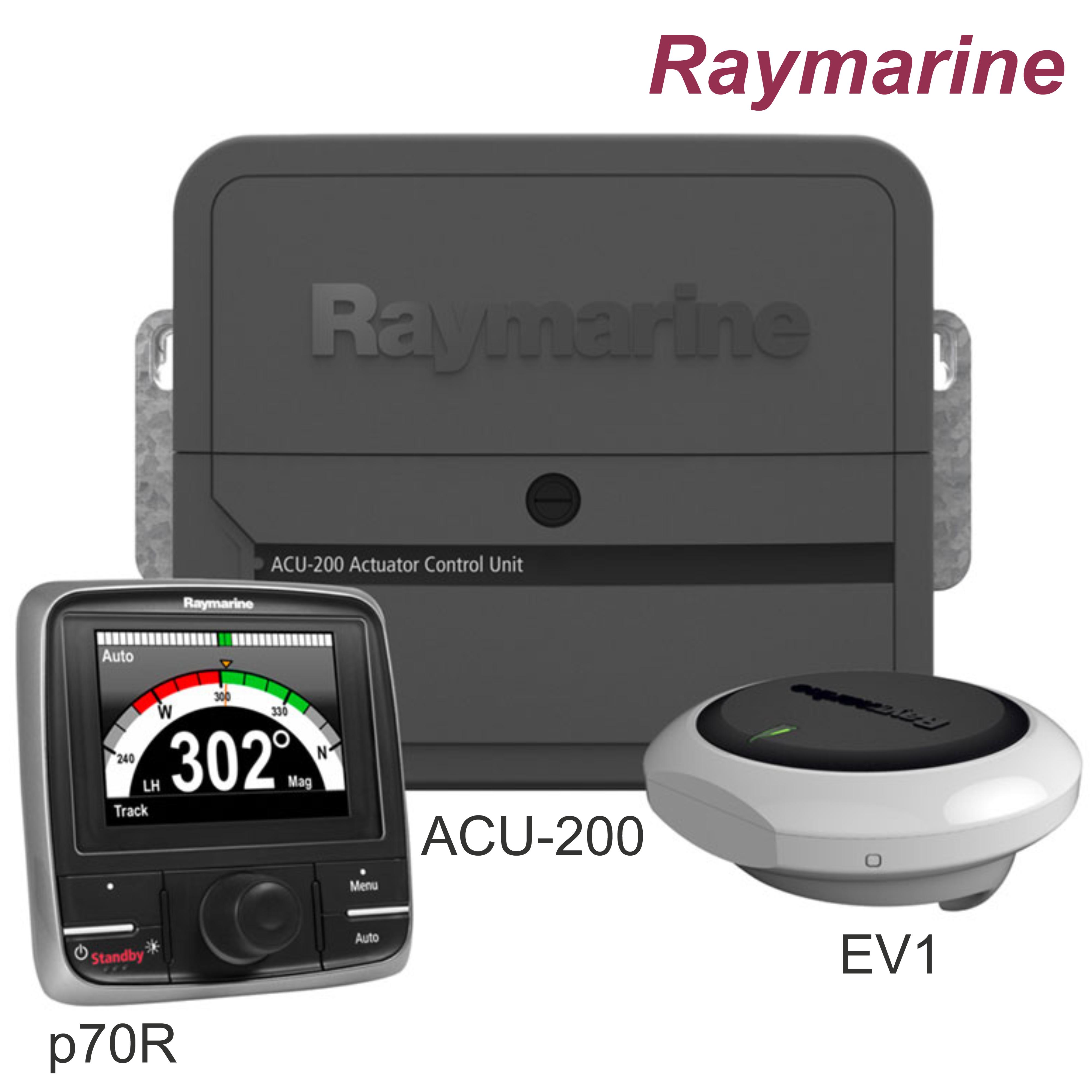 Raymarine-T70156|Evolution Autopilot|Control Head|ACU-200|Drive Unit|For Marine