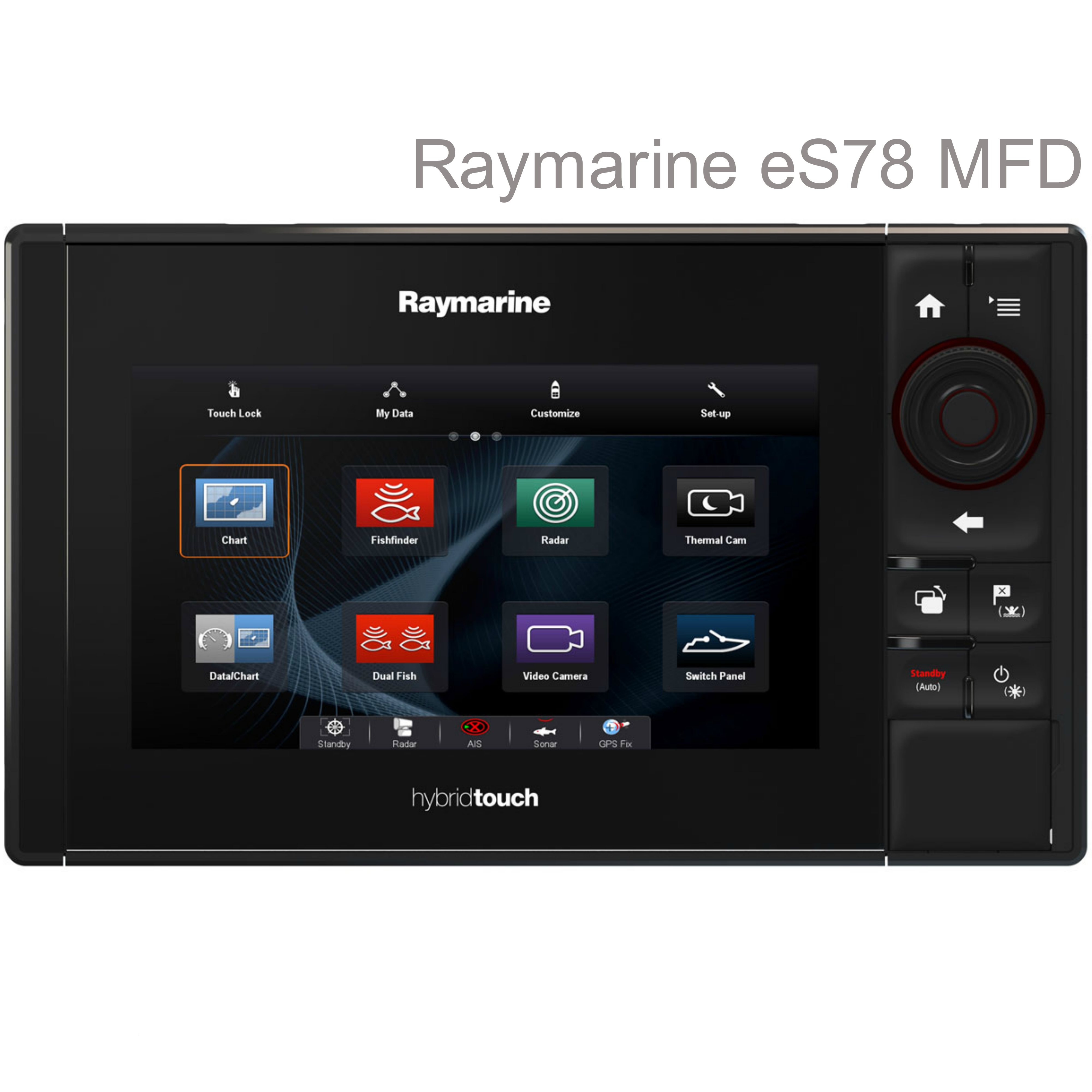 "Raymarine E70265|eS78 Hybrid Touch MFD-7""|CHIRP|Sonar|DownVIsion|Wi-Fi/BT|IPX6/IPX7|For Marine"