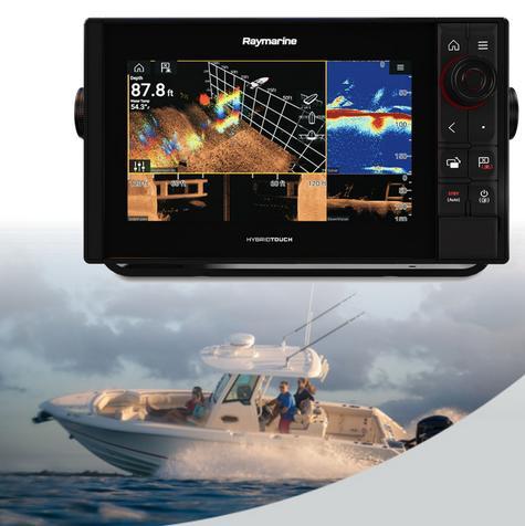 "Raymarine-E7037100NSD|Axiom 9 Pro-RVX|9""MFD 1kW Sonar|DV SC RV 3D Marine Sonar Thumbnail 1"