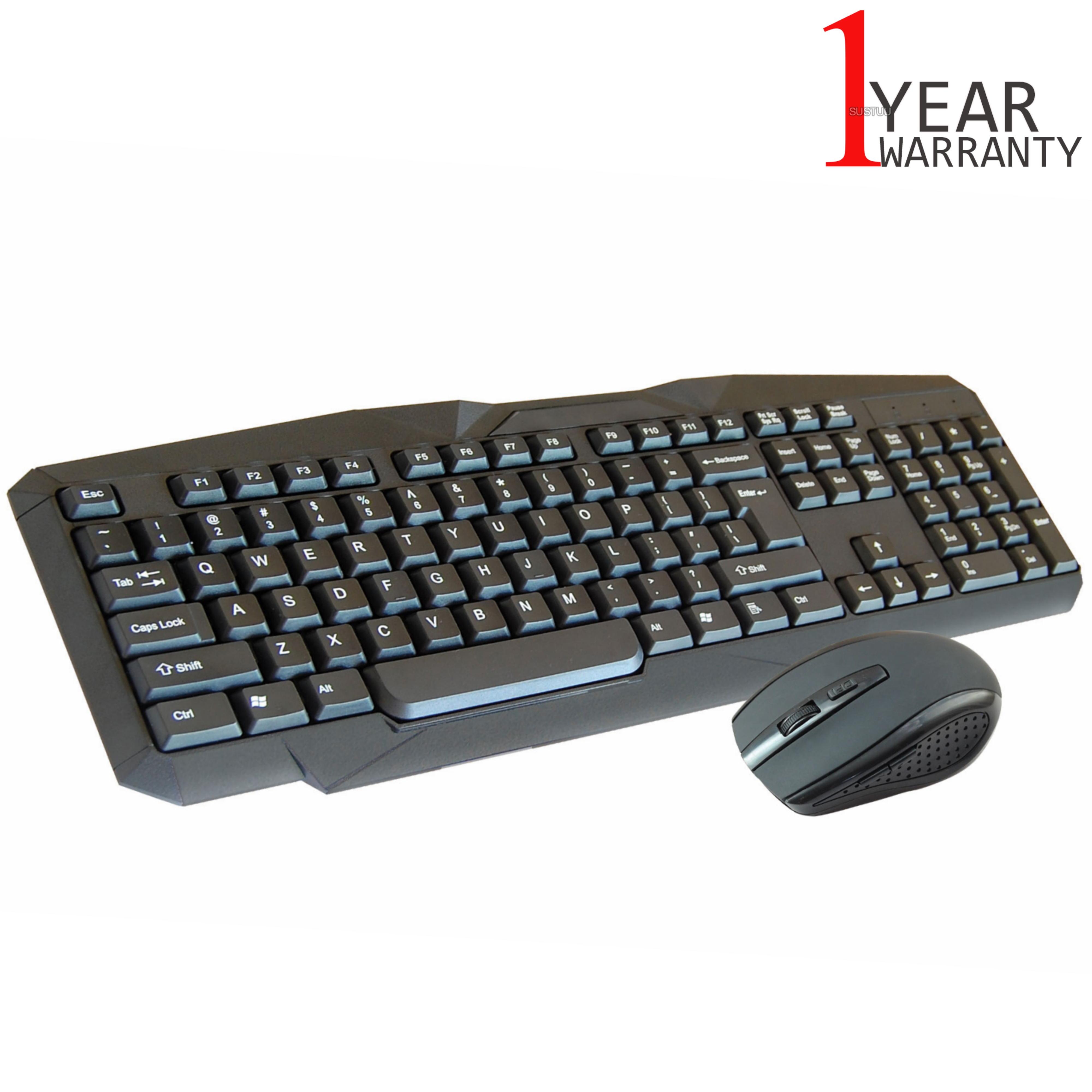 Infapower New X206 Full Size Wireless Keyboard & Mouse Combo Set|PC/Mac/Laptop|