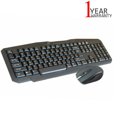 Infapower New X206 Full Size Wireless Keyboard & Mouse Combo Set|PC/Mac/Laptop| Thumbnail 1