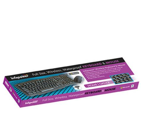 Infapower New X206 Full Size Wireless Keyboard & Mouse Combo Set|PC/Mac/Laptop| Thumbnail 4