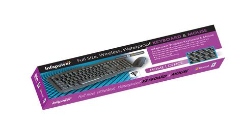 Infapower New X206 Full Size Wireless Keyboard & Mouse Combo Set|PC/Mac/Laptop| Thumbnail 3
