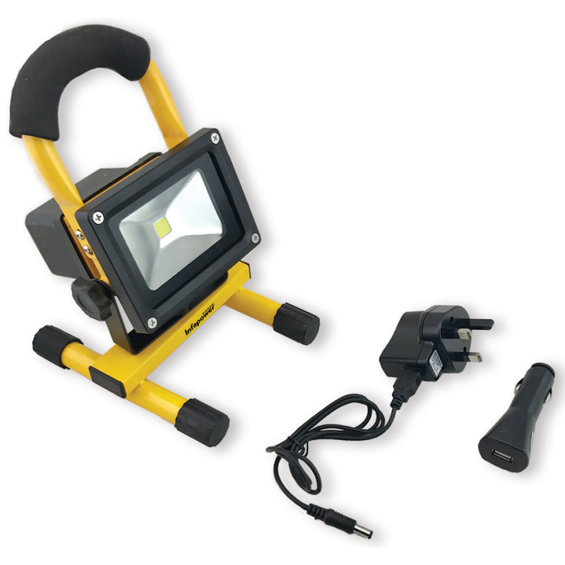 Infapower F048 10W LED Portabl Rechargeable COB Work/Flood light With Handle kit