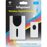 Infapower X019 Wireless Digital Doorbell|Battery Operated|Extra Lloud 32 Melodie