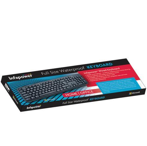 Infapower X201 New Full Size Wired Keyboard|Durable Keys|Tilt Llegs|Waterproof|  Thumbnail 2