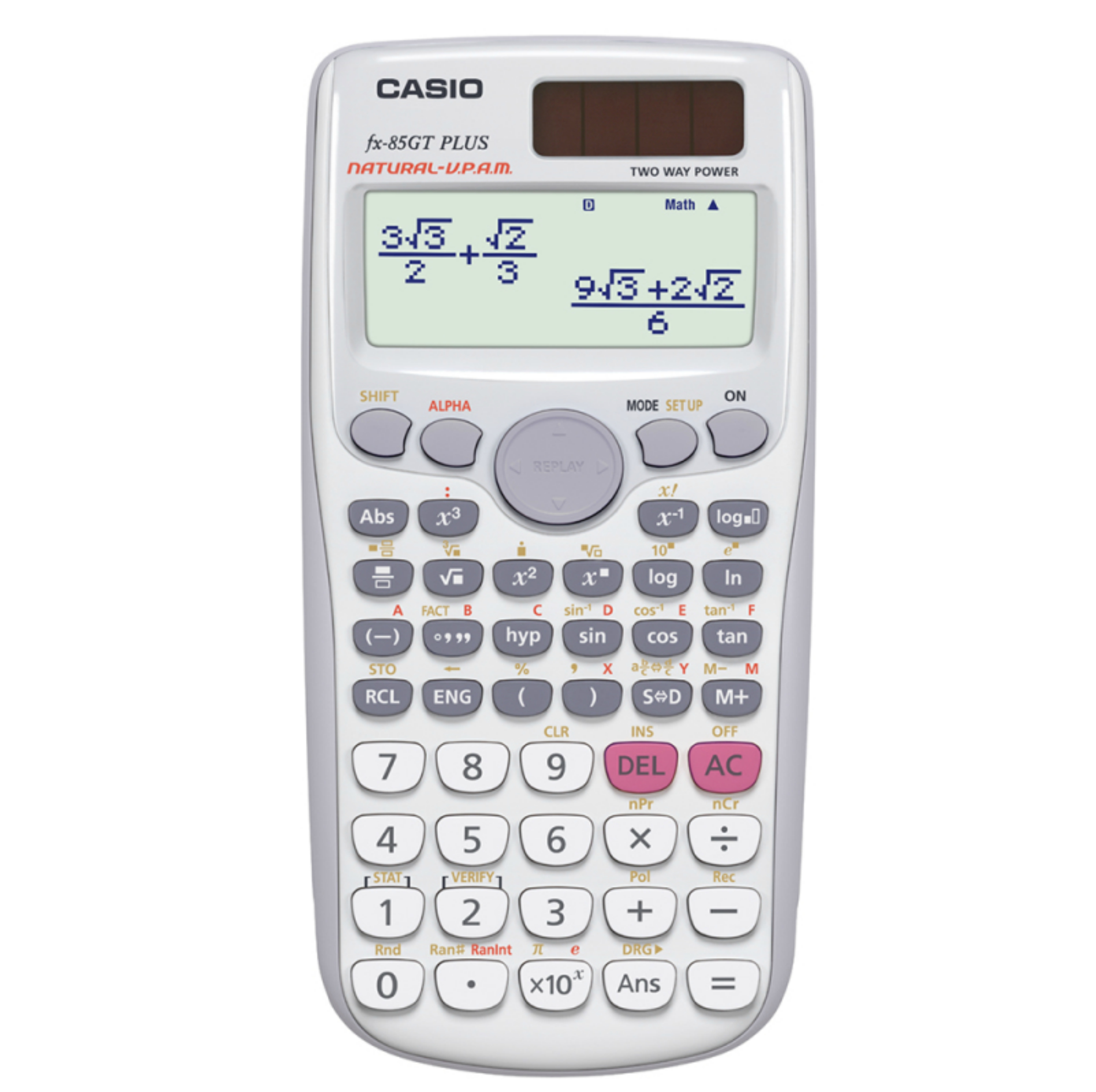 Casio FX85GTPLUS/WE Scientific Calculator|Text Book Display|260 Functions|White|
