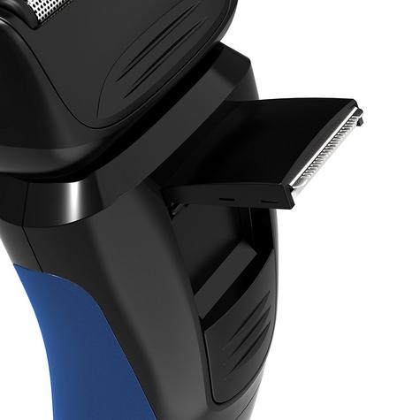 Remington PF7600 Mens Cord/Cordless Comfort Series Aqua Shaver-Blue/Black Thumbnail 6