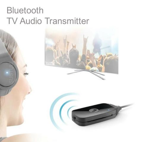 One For All SV1770 Bluetooth TV Audio Transmitter|USB Power|3.5 mm Cable|Black| Thumbnail 1