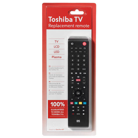 One For All  URC1919 Replacement Toshiba TV Remote Multi Features Control-Black Thumbnail 3