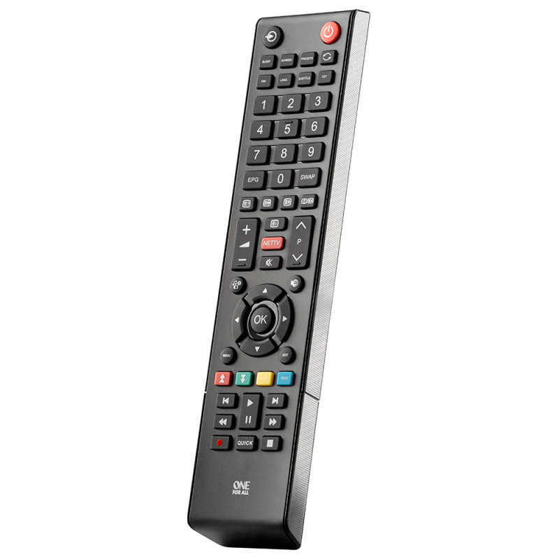 One For All  URC1919 Replacement Toshiba TV Remote Multi Features Control-Black