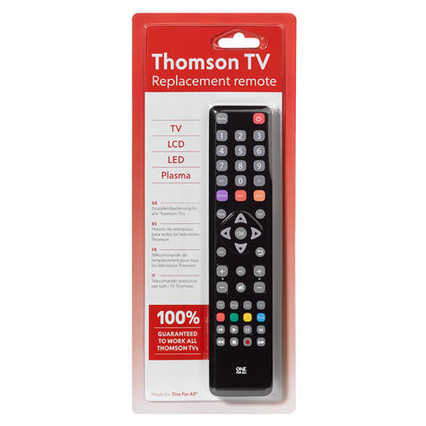One For All URC1922  All Replacement Thomson  Multi Features TV Remote Control Thumbnail 3