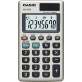 Casio HS85TE-SB Pocket Calculator|8 Digit Display|Metal Faceplate|Tax Function|