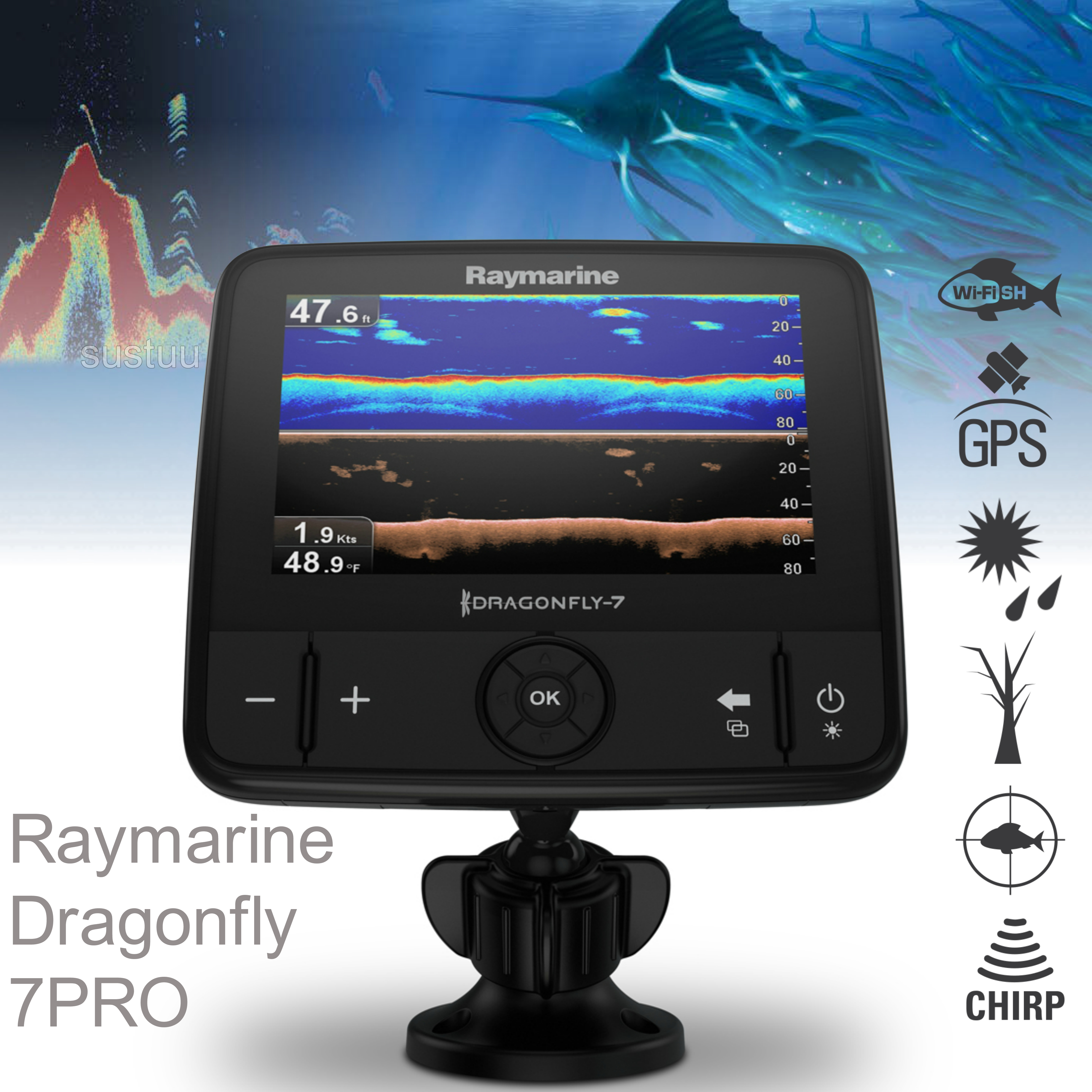 "Raymarine Dragonfly 7PRO-7"" LCD Fish Finder