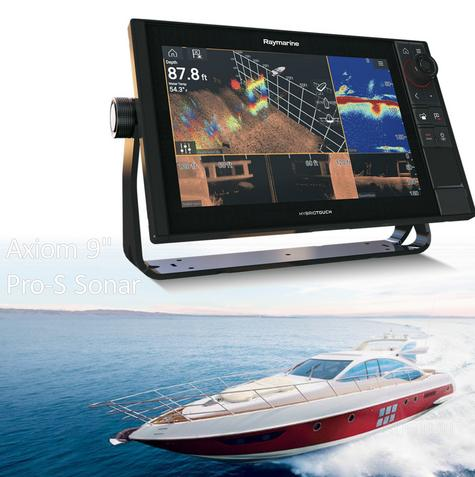 Raymarine-E7048100NSD|Axiom 9 Pro-S|Hybrid Touch|CHIRP Conical Sonar|For Marine Thumbnail 1