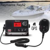 Raymarine E70345|Ray52 Compact Marine VHF LCD Radio|GPS|Class-D|DSC|Sleek-Black Look