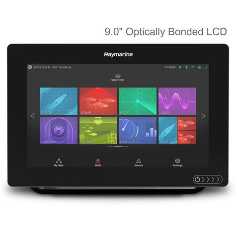 "Raymarine Axiom 9 | 9"" MFD Display | RealVision 3D Sonar | CHIRP/GPS/GLONASS | E70366 Thumbnail 2"