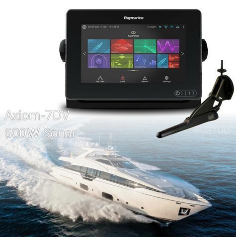 "Raymarine E7036402NSD|Axiom 7RV|7""MFD Display|3D 600W Sonar|Marine Nav+ Chart Thumbnail 1"