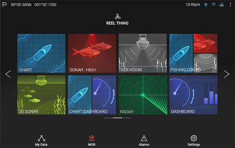 "Raymarine E7036402NSD|Axiom 7RV|7""MFD Display|3D 600W Sonar|Marine Nav+ Chart Thumbnail 6"