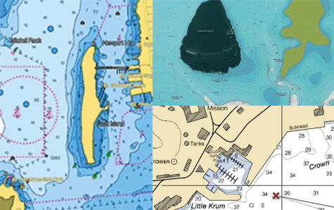 "Raymarine E7036402NSD|Axiom 7RV|7""MFD Display|3D 600W Sonar|Marine Nav+ Chart Thumbnail 8"