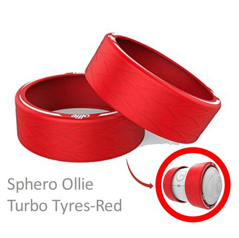 Sphero ATT01RE1 Ollie Turbo Tyres|Unbeatable & Comfort|All Type Terrain|Red Thumbnail 1