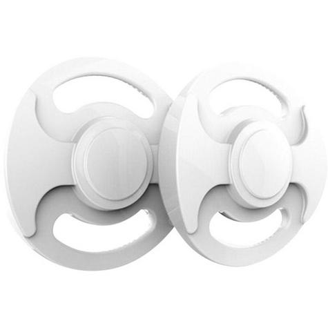 Sphero Ollie Flux Hubcaps Shoe Off Trick & Skill Super Power Wheel Plate - White Thumbnail 2