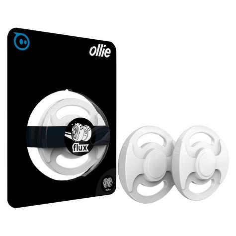 Sphero Ollie Flux Hubcaps Shoe Off Trick & Skill Super Power Wheel Plate - White Thumbnail 3