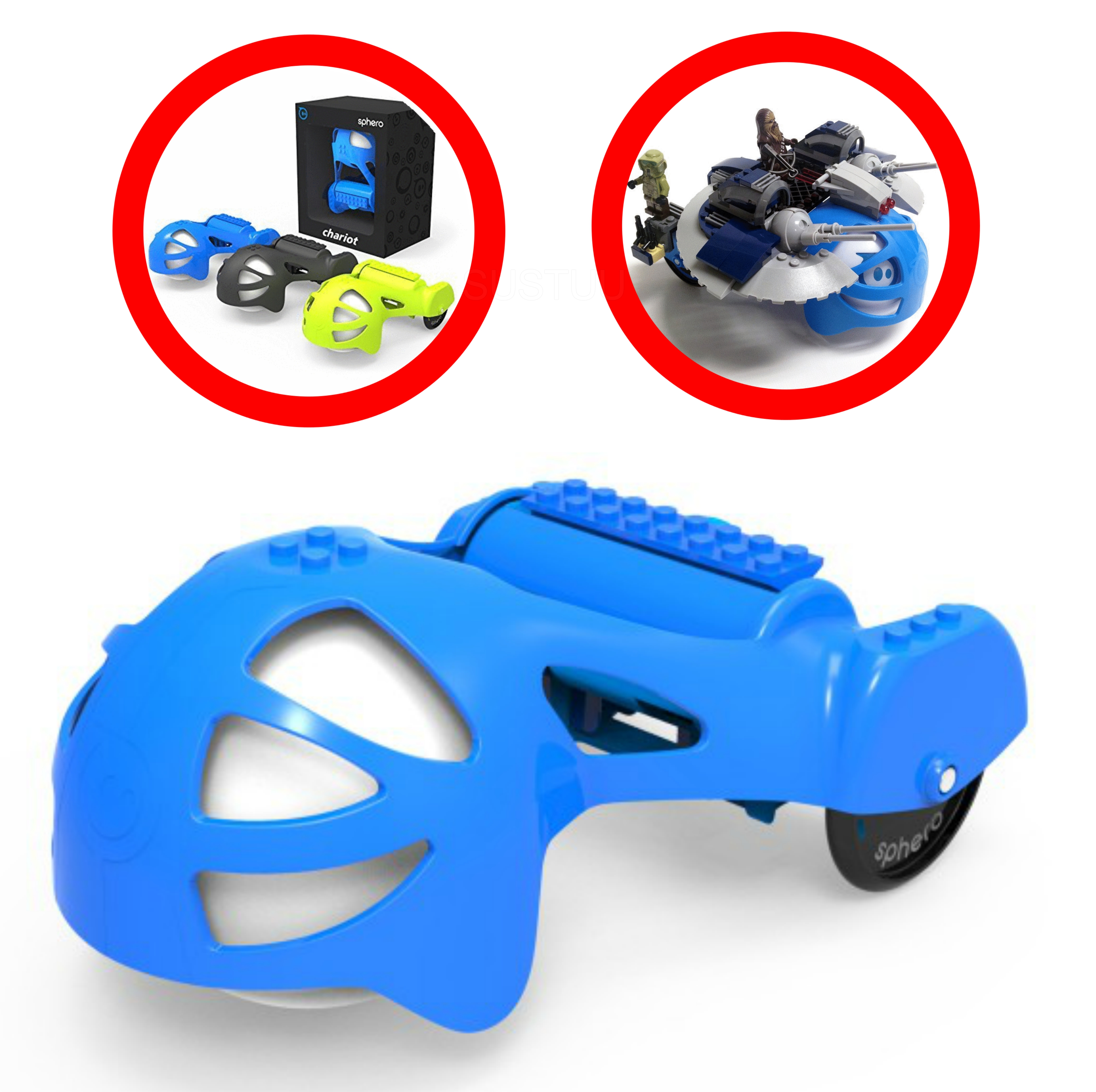 Sphero Chariot Blue|ACH01BU1|Build Own Spy-bot Use with Sphero Orginal & 2.0