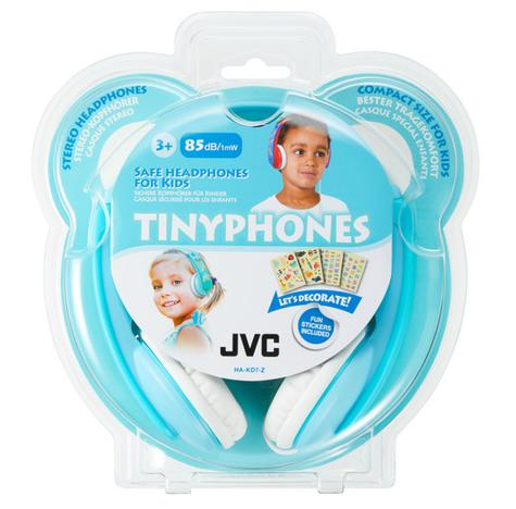 JVC HAKD7Z Tiny Phones Kids Stereo Headphones With Adjustable Headband - Mint Thumbnail 2