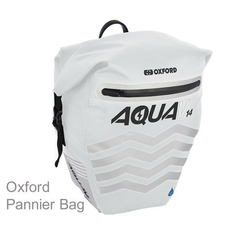 Oxford Aqua V14 Pannier Waterproof Reflective Cycling Bag 14L White Thumbnail 1