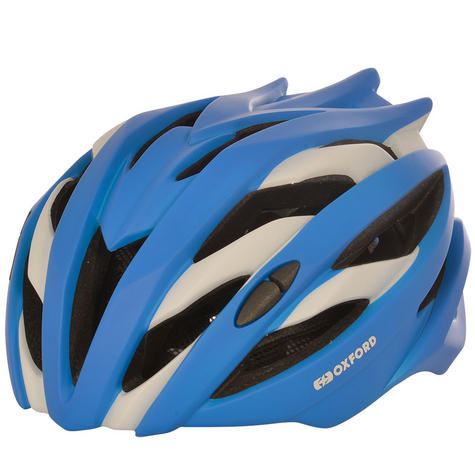 Oxford Raven Road Helmets|Mold Shell|32 Vents|3 Position Headlock|Matt Blue Thumbnail 1