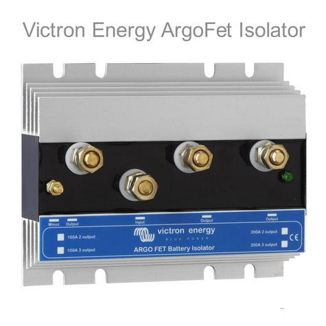Victron Energy 100-2 Argo FET Battery Isolator|2 Batteries-100A|M8 Bolts|Use Marine & Boats Thumbnail 1
