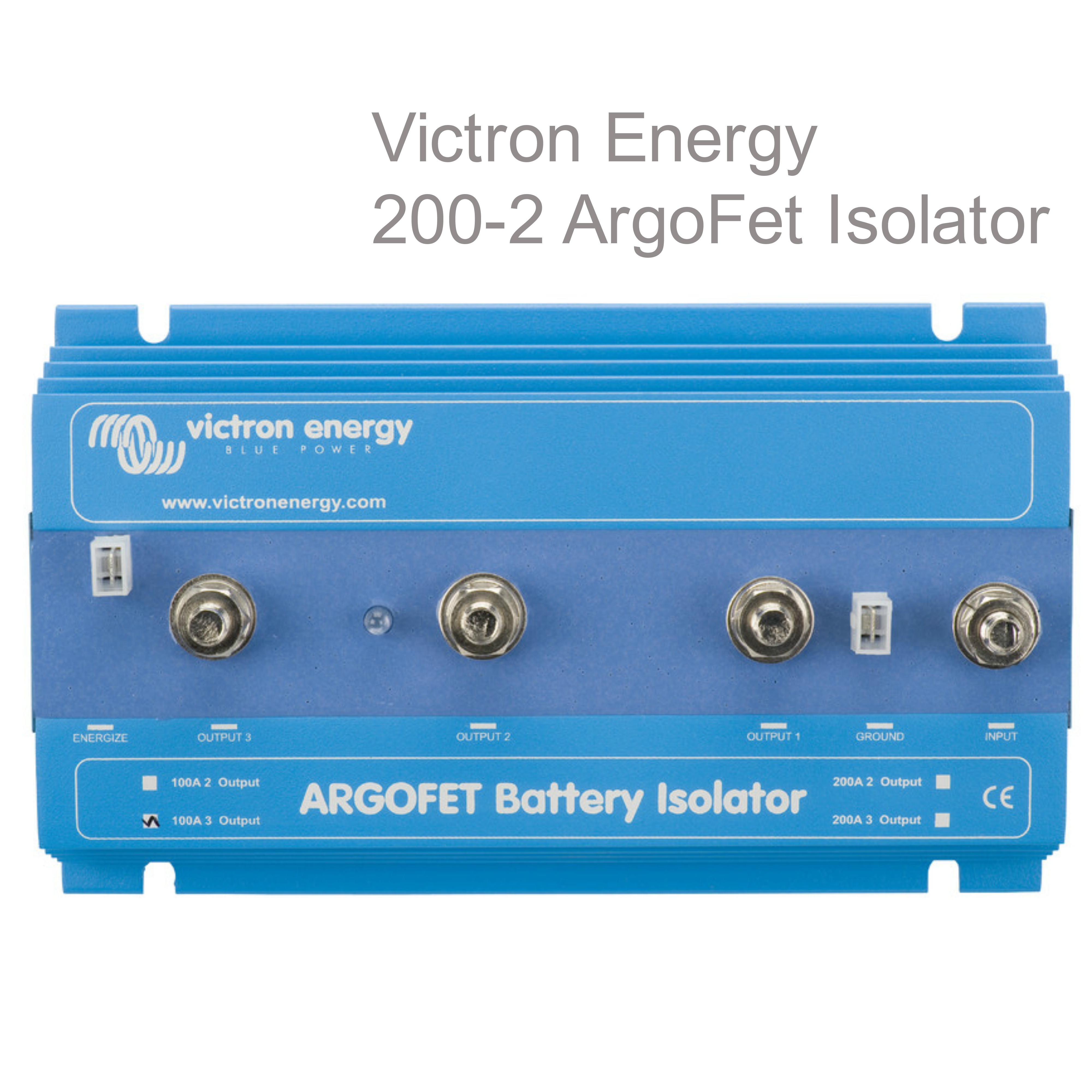 Victron Energy 200-2 Argo-FET Battery Isolator|2 Batteries-200A|M8 Bolt|Use Marine & Boats